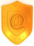 Shield with symbol for internet Royalty Free Stock Photos