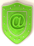 Shield with symbol for internet Royalty Free Stock Photo