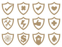 Shield Symbol Vector Icon Set Royalty Free Stock Photography