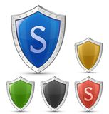 Shield symbols Royalty Free Stock Images