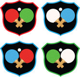 Shield With Table Tennis Paddles And Ball Stock Photography