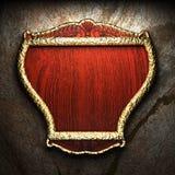Shield on tha wall Royalty Free Stock Photos