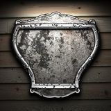 Shield on tha wall Royalty Free Stock Images