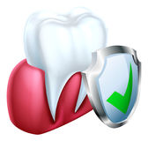 Shield Tooth and Gum Royalty Free Stock Photography