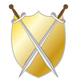 Shield with two swords Stock Image