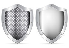 Shield. Two shield on a white background stock illustration