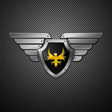 Shield. Vector. Shield with eagle and wings. Vector illustration Stock Photos