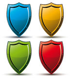 Shield vector icon. Royalty Free Stock Image