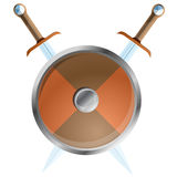Shield, vector illustration Stock Images