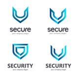 Shield. Vector logo template. Symbol of security. Stock Photos