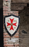 Shield on wall. Stock Photography