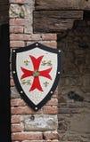 Shield on wall.
