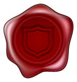 Shield wax seal Royalty Free Stock Images