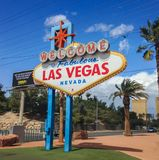 Shield Welcome to Las Vegas. Nevada. Spring 2015 stock images