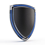 Shield. On white - 3d render royalty free illustration