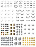 Shield wing art pack Royalty Free Stock Photos