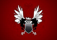 Shield with wings Royalty Free Stock Image