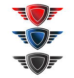 Shield with wings Stock Photos
