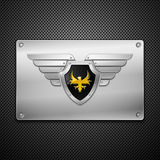 Shield With Eagle And Wings. Stock Image