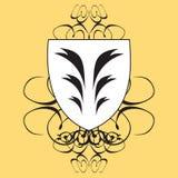 Shield yellow Stock Photo