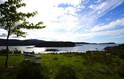 Shieldaig loch and island stock image