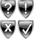 Shieldbuttons Royalty-vrije Stock Afbeeldingen
