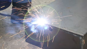 Shielded metal arc welding stock footage