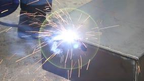 Shielded metal arc welding stock footage
