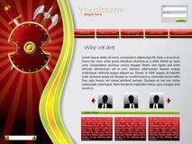 Shielded web template Stock Photos