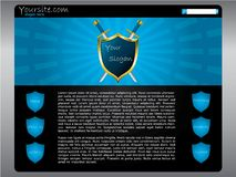 Shielded website template Royalty Free Stock Image