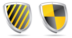 Shields 3d. Set of shields 3d for edit in vector Stock Photos