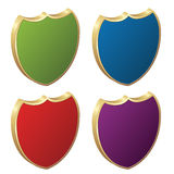 Shields - 3d badges. Illustration for the web Stock Photos