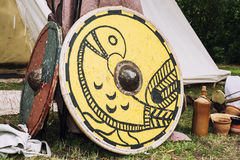 Shields of ancient warriors Royalty Free Stock Photo