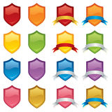 Shields and Banners Stock Photography