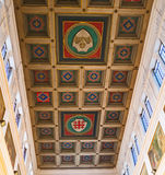 Shields on the ceiling Royalty Free Stock Photos