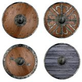 4 shields Royalty Free Stock Photo