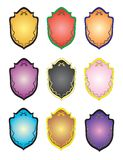 Shields and crests. Illustration royalty free illustration