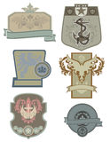 Shields, Crests, Emblems Stock Images