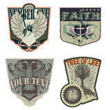 Shields, Crests, Emblems Stock Photos