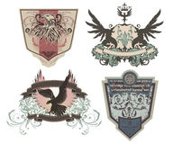 Shields, Crests, Emblems Royalty Free Stock Photography