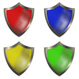 Shields for the design. Stock Image