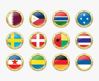Shields with flags. Stock Photography