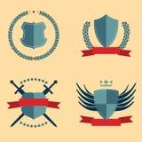 Shields - heraldic design elements Stock Images