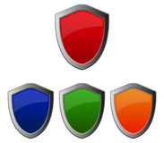 Shields illustrated Royalty Free Stock Photo