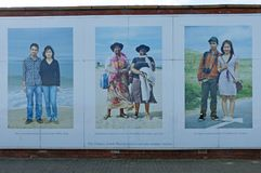 So Shields mural in South Shields, Tyne and Wear Royalty Free Stock Photography