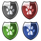 Shields pawprints Royalty Free Stock Photography