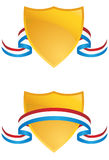 Shields with Ribbon Stock Images