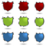Shields with rivets Royalty Free Stock Photo