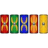 Shields Roman legionnaires Stock Images