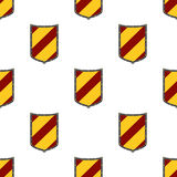 Shields seamless pattern. Guard, security logo, protection heraldic element Stock Images